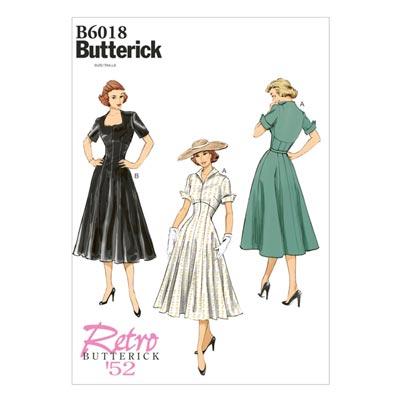 Vintage - Kleid 1952, Butterick 6018 | 32 - 40