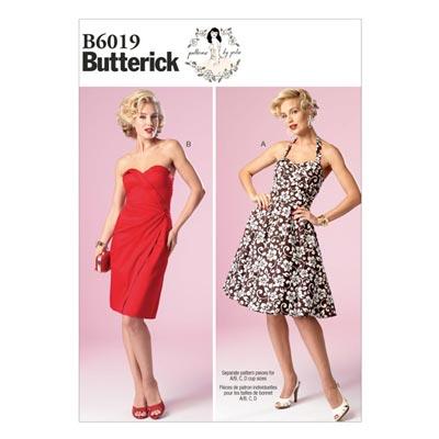 Kleid, Butterick 6019 | 30 - 38