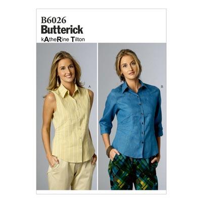 Top, Butterick 6026 | 34 - 42