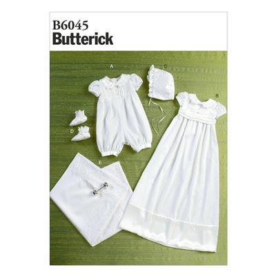 Taufkleid/Accessories, Butterick 6045 | 71 - 102