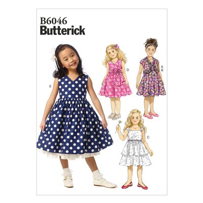 Kinderkleid, Butterick 6046 | 122 - 134