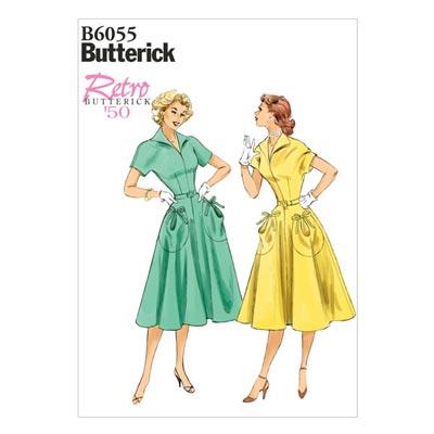 Vintage - Kleid 1950, Butterick 6055 | 32 - 40