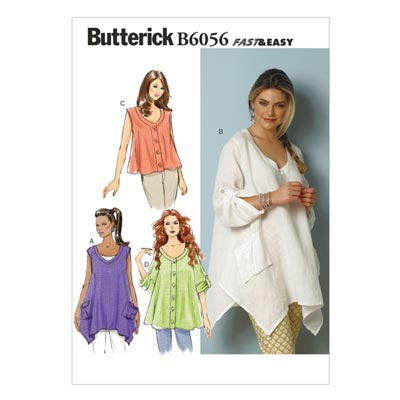 Top, Butterick 6056 | 32 - 40