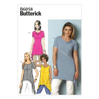 Top, Butterick 6058 | 40 - 48
