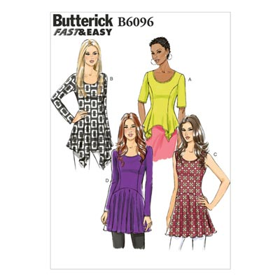 Top mit Prinzessinnen-Saum, BUTTERICK B6096