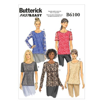 Top, BUTTERICK B6100