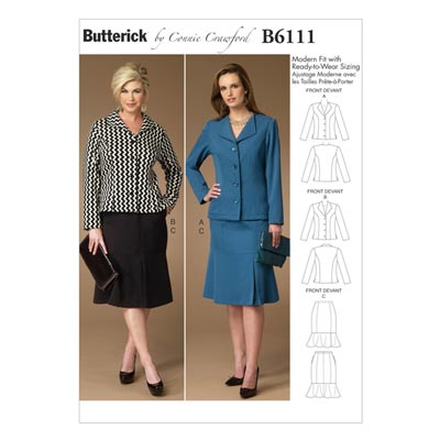 Jacke / Rock, BUTTERICK B6111