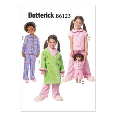Kinder-Nachtwäsche, Butterick 6123 | 122 - 134
