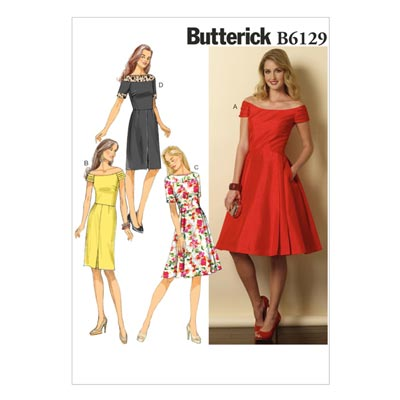 Kleid, Butterick 6129 | 40 - 48
