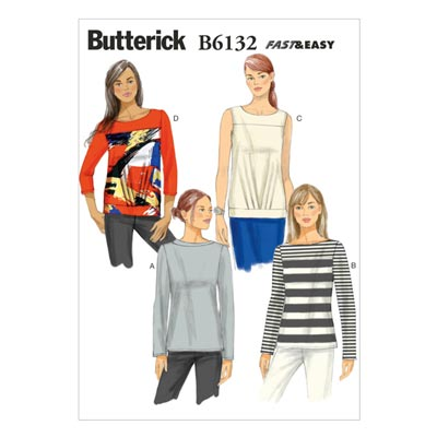 Top, Butterick 6132 | 40 - 48