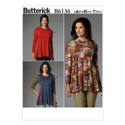 Top, Butterick 6136 | 32 - 40