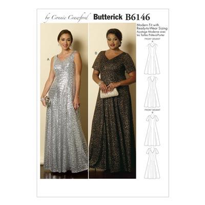 Abendkleid, Butterick 6146 | 32 - 48