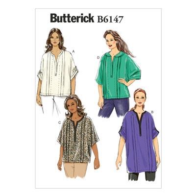 Top, Butterick 6147 | 34 - 42