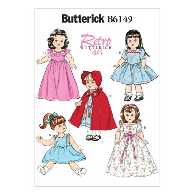 Vintage - Puppenbekleidung 45 cm 1946, Butterick