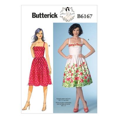 Kleid, Butterick 6167 | 34 - 42