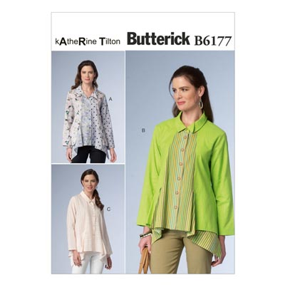Top, Butterick 6177 | 32 - 40