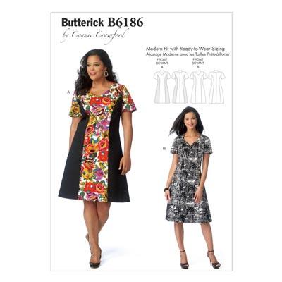 Kleid, Butterick 6186 | 32 - 48