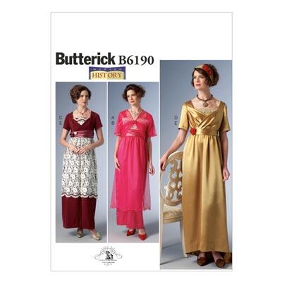 Historisches Kostüm, Butterick 6190 | 40 - 48