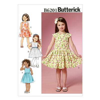 Kinderkleid, Butterick 6201 | 122 - 134