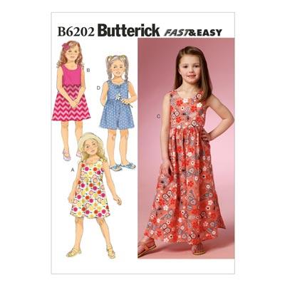 Kinderkleid, Butterick 6202 | 122 - 134