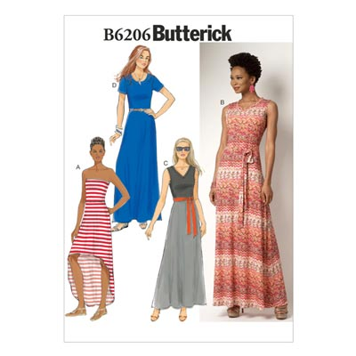 Kleid, Butterick 6206 | 32 - 40