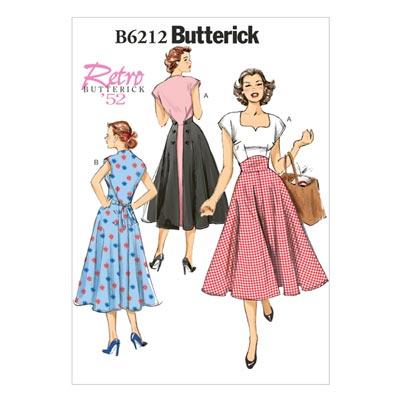 Vintage - Kleid 1952, Butterick 6212 | 32 - 40