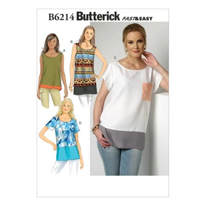 Top, Butterick 6214 | 32 - 40