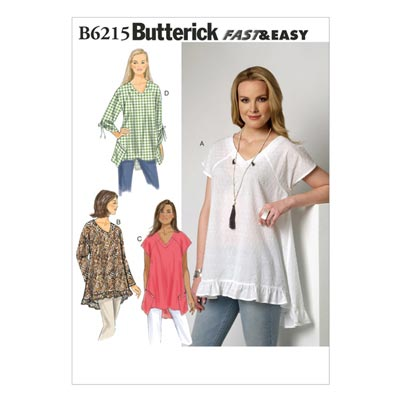 Top, Butterick 6215 | 32 - 40