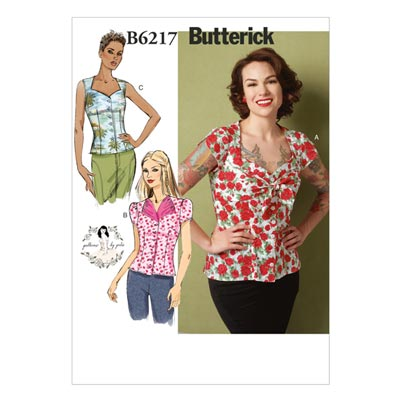 Top, Butterick 6217 | 30 - 38