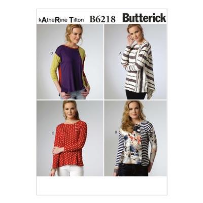 Top, Butterick 6218 | 34 - 42