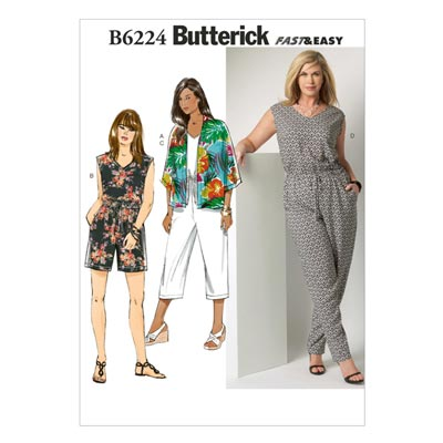 Plus Size - Jumpsuit, Butterick 6224 | 52 - 58