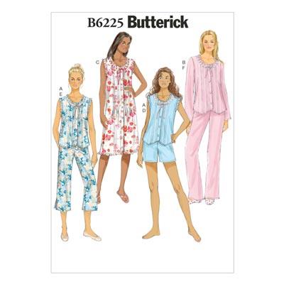 Nachtwäsche, Butterick 6225 | 32 - 40