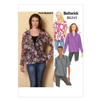 Top, Butterick 6245 | 32 - 40
