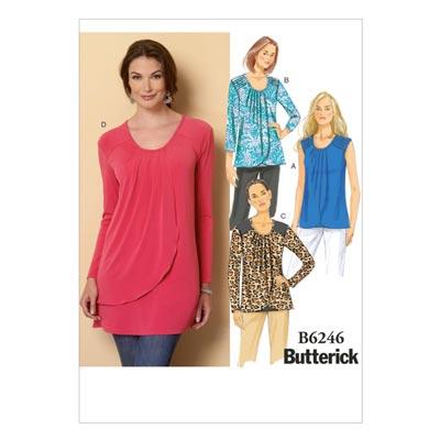 Top, Butterick 6246 | 32 - 40