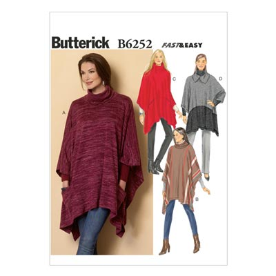 Poncho, Butterick 6252 | 32 - 40