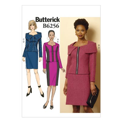 Blazer / Rock, Butterick 6256 | 40 - 48