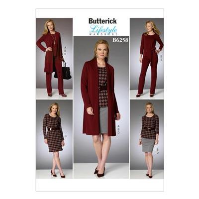 Cardigan / Kleid / Rock, Butterick 6258 | 32 - 40