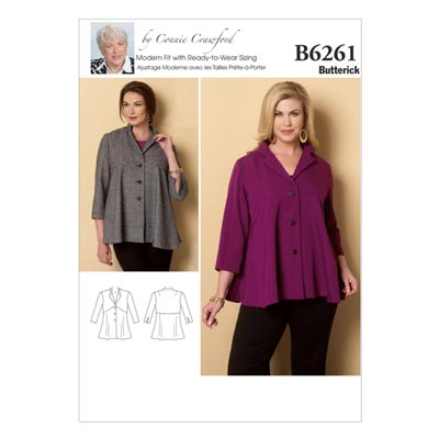 Plus Size - Jacke, Butterick 6261 | 2XL - 6XL
