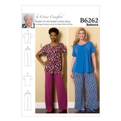 Plus Size - Nachtwäsche, Butterick 6262 | 2XL -