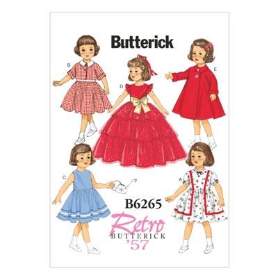 Vintage - Puppenbekleidung 45 cm 1957, Butterick