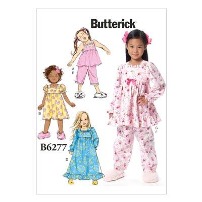 Kinder-Nachtwäsche, Butterick 6277 | 122 - 134