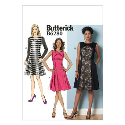 Kleid, Butterick 6280 | 40 - 48