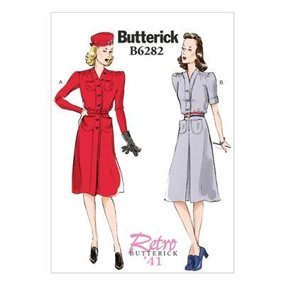 Vintage - Kleid 1941, Butterick 6282 | 42 - 50