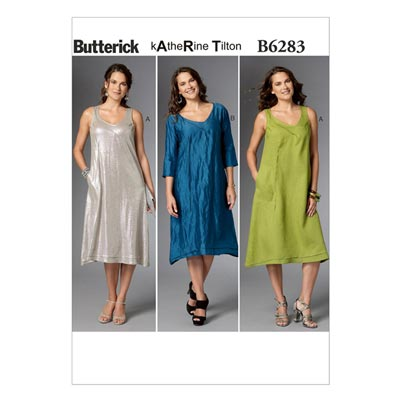 Kleid, Butterick 6283 | 32 - 40