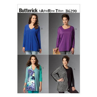 Top, Butterick 6290 | 32 - 40
