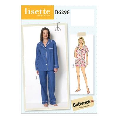 Nachtwäsche, Butterick 6296 | 32 - 40
