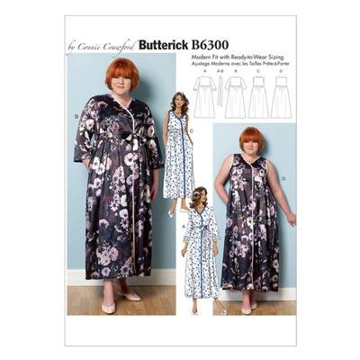 Plus Size - Nachtwäsche, Butterick 6300 | 2XL - 6XL
