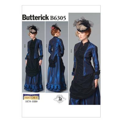 Historisches Kostüm, Butterick 6305 | 34 - 42