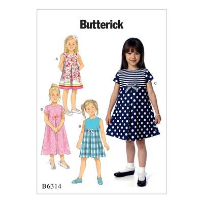 Kinderkleid, Butterick 6314 | 92 - 116