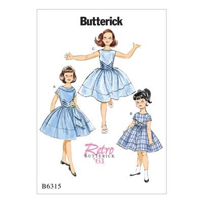 Vintage - Kinderkleid 1961, Butterick 6315 | 122 -